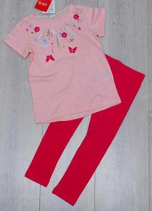 Костюм, комплект футболка -туника и лосины  kiki&koko 104