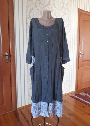 Платье в стиле бохо с карманами  с очень красивой ткани 💞💞💞💞💞