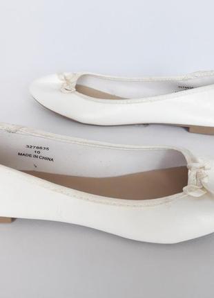 Белые балеточки