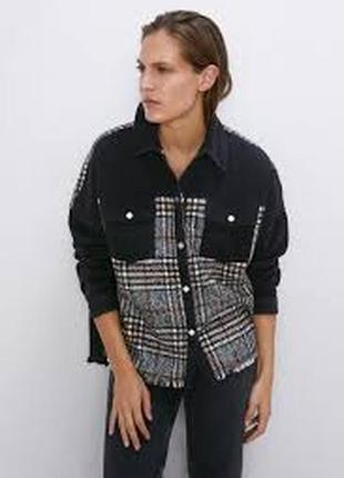 Новая женская рубашка zara 48 50 52 zara сорочка l xl zara куртка женская2 фото
