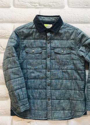 Next стильная куртка- рубашка  на мальчика 5-6 лет