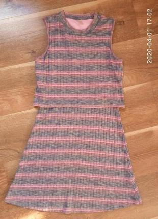 Платье сарафан tu на 12-13 лет