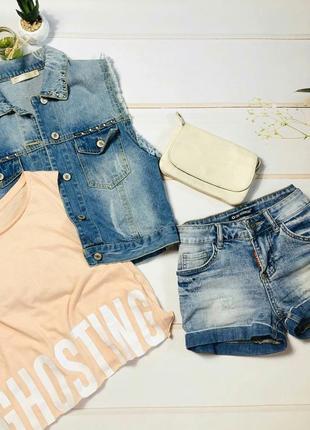 Классные джинсовые шорты