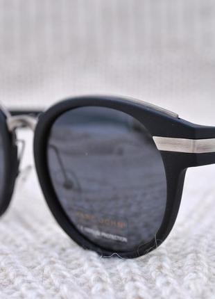 Фирменные солнцезащитные круглые матовые очки marc john polarized unisex