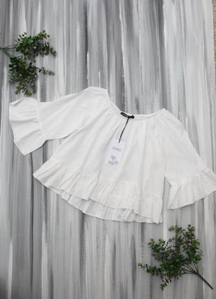 Gong белоснежная блузка с открытыми плечами