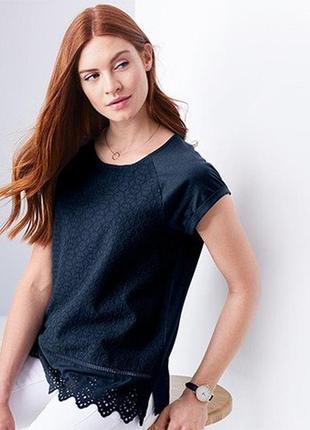 Оригинальная блуза из органического хлопка с вышивкой tchibo германия