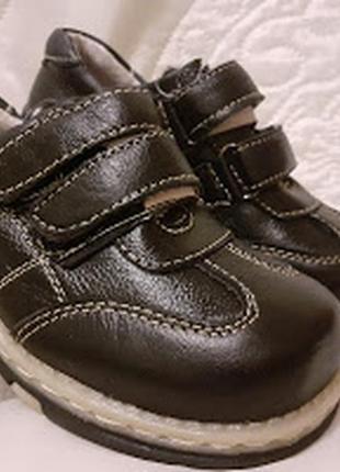 Ботинки кроссовки кожаные на мальчика от 27 - 32го