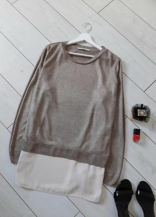 ⏳ цены низкие на время карантина! стильный джемпер casual с обманкой блузы.