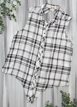 Bershka рубашка безрукавка на пуговках