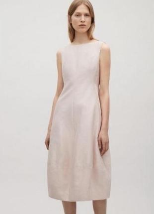 Платье кокон из тонкого льна cos
