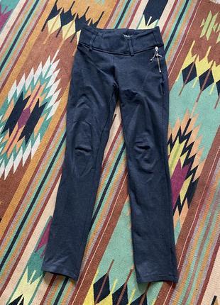 Темно-серые штаны с утяжкой