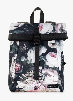 Женский городской рюкзак roll mini принт, флорал