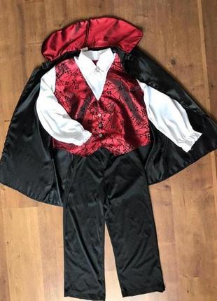 Дракула вампир 7-8 лет костюм