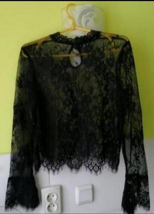 Шикарная кружевная блуза h&m