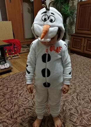 Новогодний костюм снеговик olaf 3-4 и 8-9