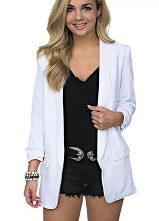 Беленький легкий пиджак/жакет ❤️