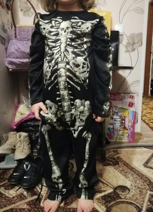 Новогодний костюм скилет 5-6