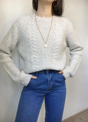 Вязаный свитер primark свободный ворсистый длинный, оверсайз, трендовый джемпер гольф худи