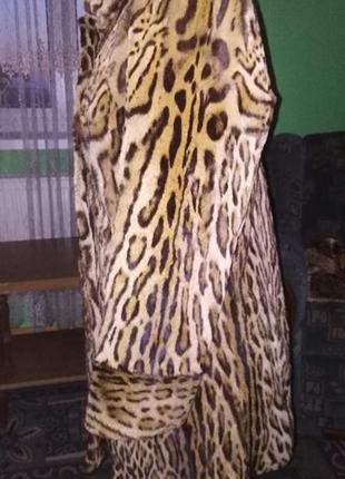 Шуба з леопарда,натуральная.3 фото
