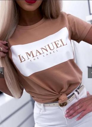 Стильная женская новая футболка хлопок