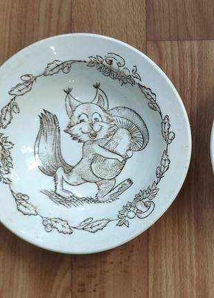 Набор детских глубоких тарелок