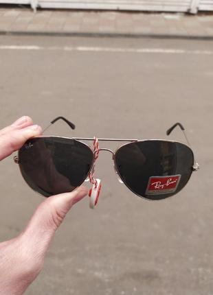 Солнцезащитные брендовые очки ray ban стекло
