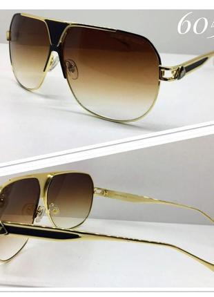 Очки-маска солнцезащитные коричневые armani