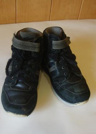 Ботинки кожаные черные ортопедические duna италия 32 стелька 21 см