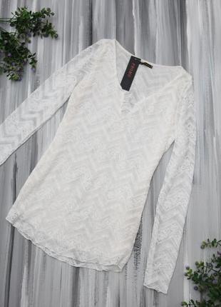 Golbary кремовая блузка кружевная