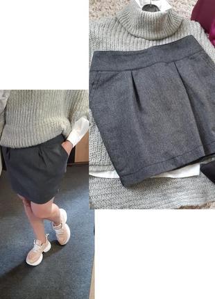 Стильная юбка мини с карманами,  madonna,  p. 10-12