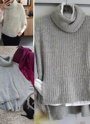 Актуальный стильный объёмный свитер оверсайз, clockhouse,  p. 10-14