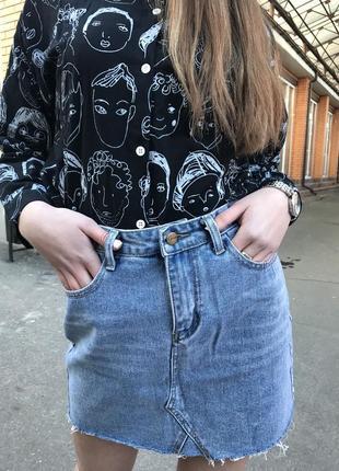 Юбка джинс юбка джинсовая