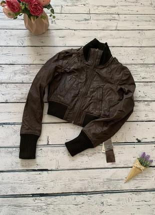 Натуральная укорочённая куртка пиджак bershka