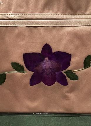 Текстильная салфетница орхидеи