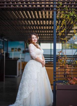 Свадебное платье от татьяны григ размер l m