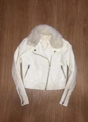 Стильная байкерская куртка, косуха h&m, указано 9-10 лет