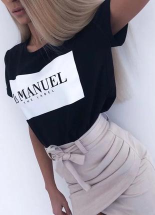Стильная женская хлопковая футболка