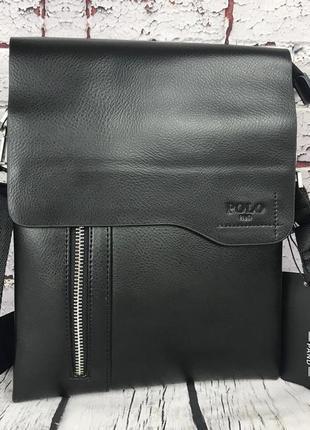 Мужская сумка-планшет polo с ручкой. барсетка мужская через плечо. кс81