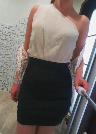 Платье нежное вечернее шампань айвори брендовое ажурное s