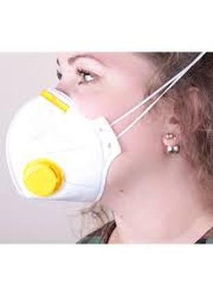 Респиратор многоразовый противовирусная маска защитная для органов дыхания микрон ffp22 фото