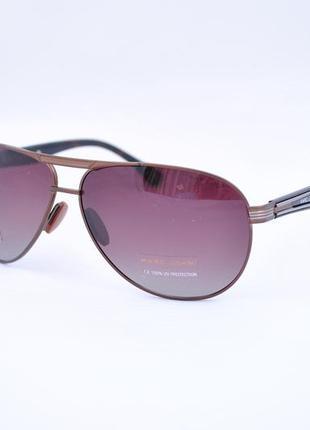 Мужские фирменные солнцезащитные очки marc john polarized капля