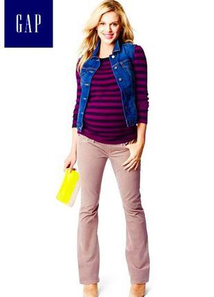 Зауженные брюки микровельвет для беременных