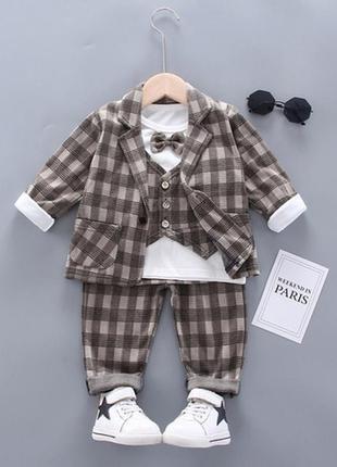 Стильные нарядные костюмы 3-ки