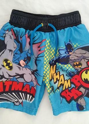 """Шорты-плавки """"batman"""" р.116-122 мальчику 6-7л, пляжные с трусиками внутри"""