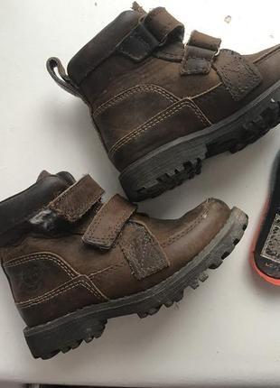 Timberland кожа ботинки