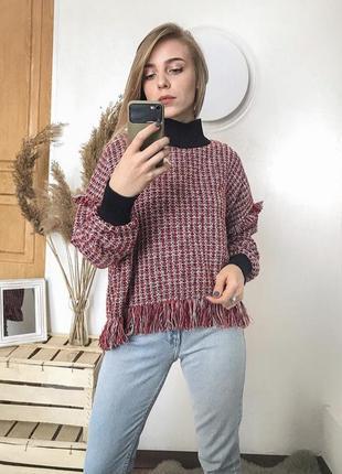 Твидовый свитер
