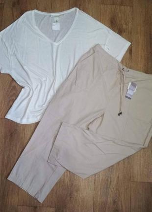 Батал!недорого!отличные льняные бриджи/штаны от ewm, евроразмер 22