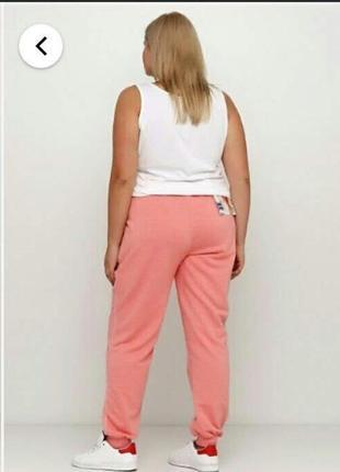 Батал! персиковые штаны с начесом esmara, р. 56-58 (укр. р. 64-66)