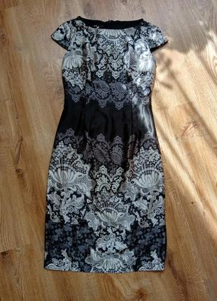 Нарядное атласное платье oodji
