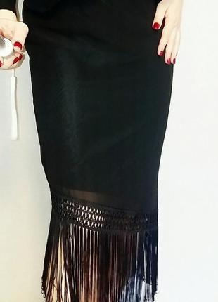 Kappahl юбка миди с бахромой 16-18 размер